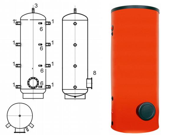 Емкость теплоаккумулирующая Drazice NAD V3