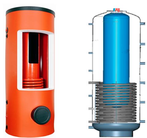 Теплоаккумулирующая емкость Drazice NADO с резервуаром для нагрева воды