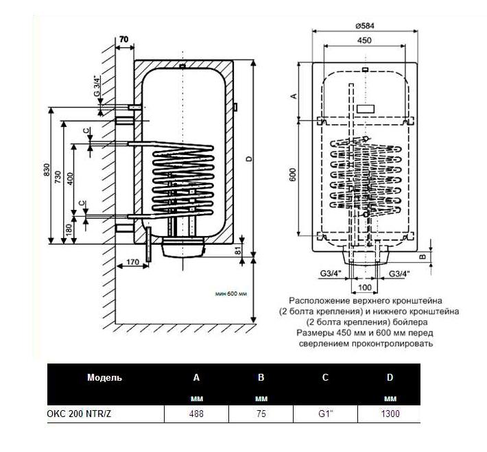 водонагреватель Drazice Okc 200 Ntr инструкция - фото 3